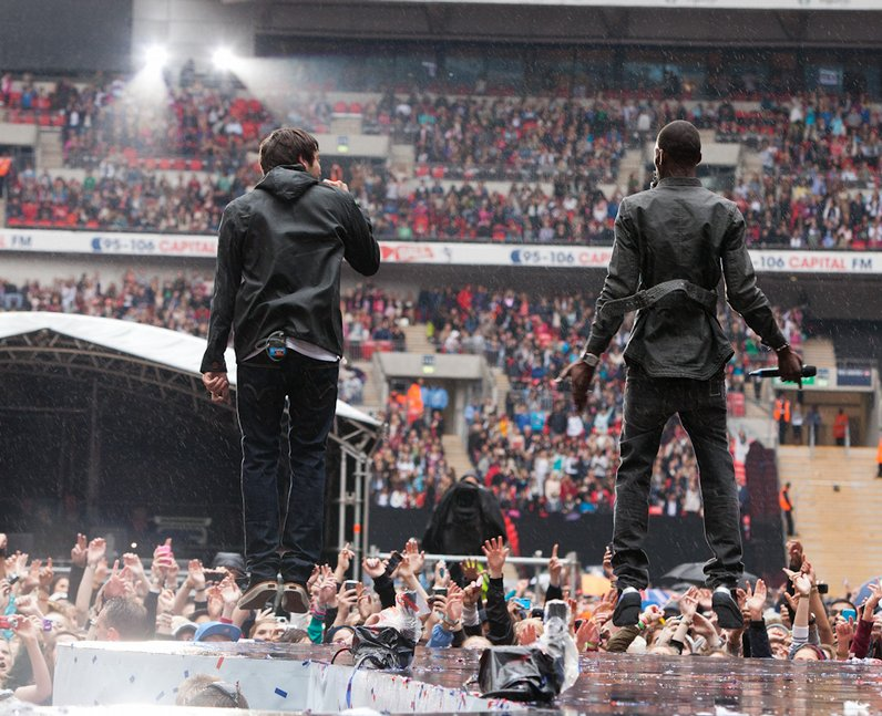 Example and wretch 32 at the Summertime Ball 2011