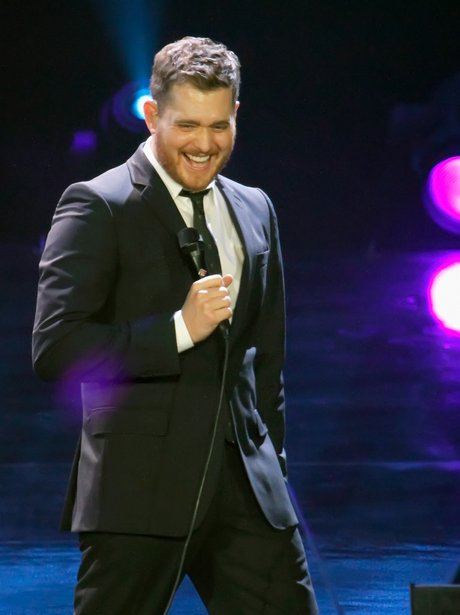 Michael Buble performs live on stage