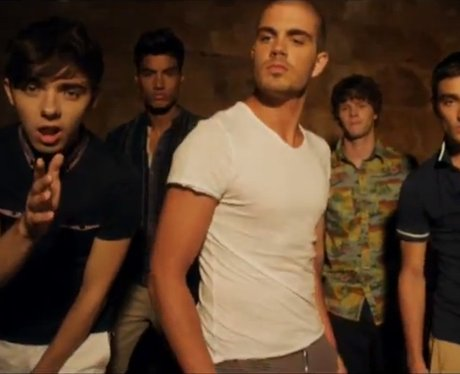 The Wanted in a still from their video for 'Glad You Came'