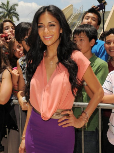 Nicole Scherzinger as her first day as judge on The X Factor USA