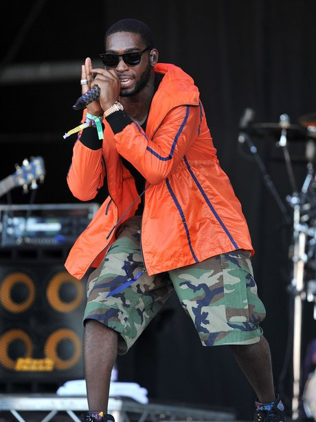 Tinie Tempah plays Glastonbury Festival 2011.