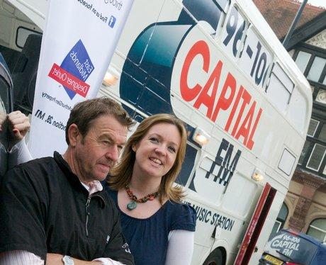 Twiggy & Emma at the Capital FM BUs