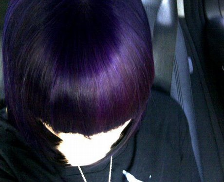 Jessie J with purple hair