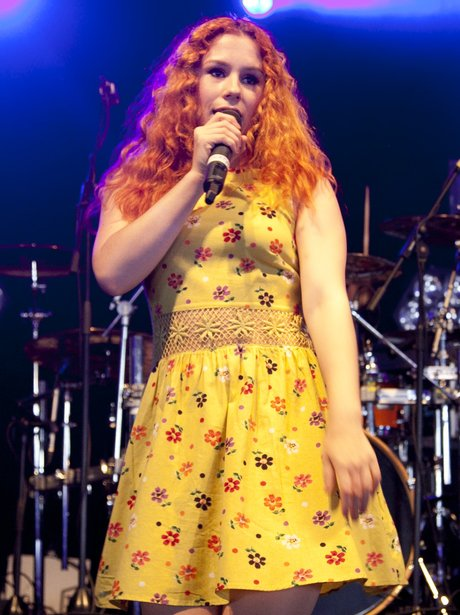 Katy B performs live on stage