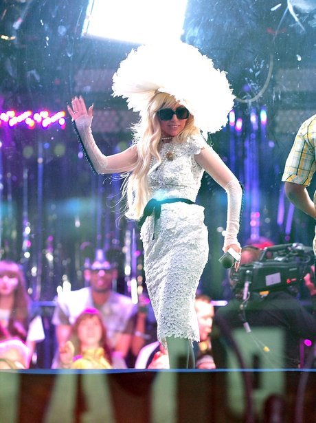 Lady Gaga visits MTV