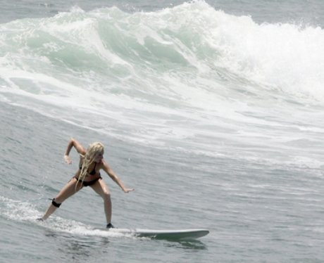 Lady Gaga Surfing
