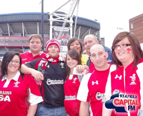 Wales Rugby Fans in Cardiff