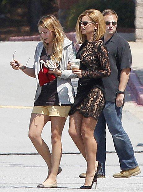 Cheryl Cole filming