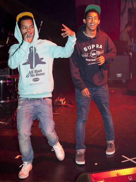 Rizzle Kicks performing live on stage