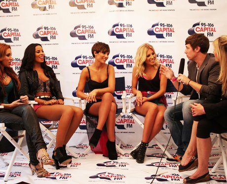 The Saturdays backstage with Christian and Katy
