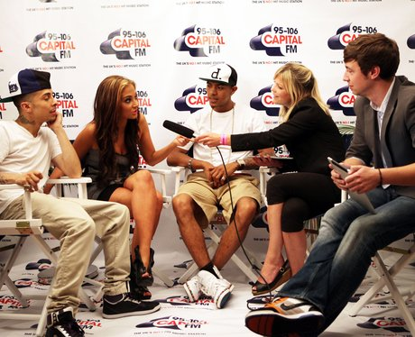 N-Dubz backstage with Christian and Katy