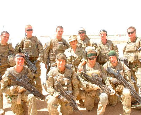 Cheryl Cole in Afghanistan with the troops