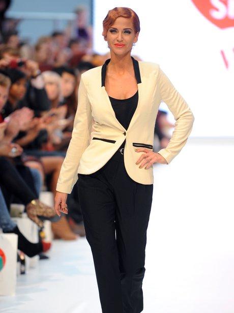 Sarah Harding on the catwalk