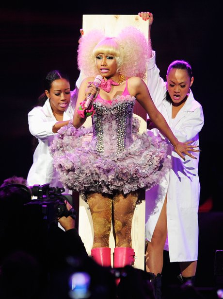 Nicki Minaj performing live on stage
