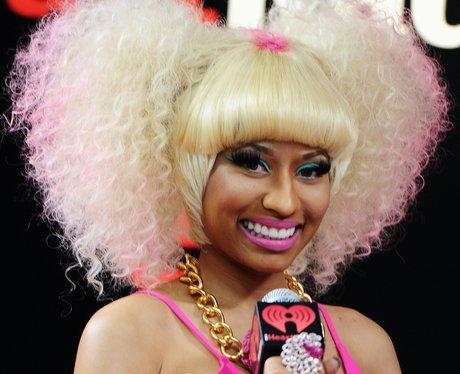 Nicki Minaj performing live.