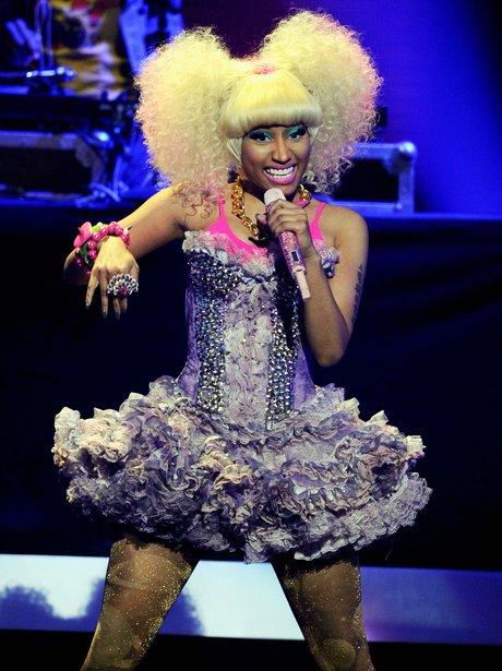 Nicki Minaj performing live on stage