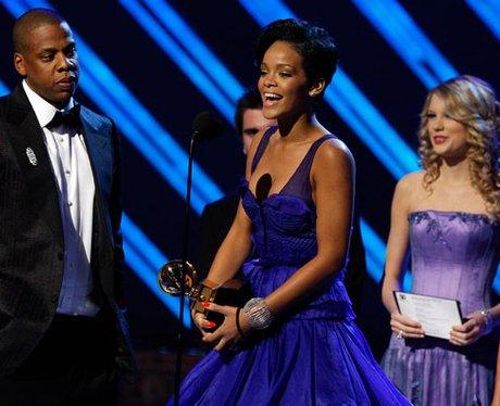 Rihannawins an award The Grammys
