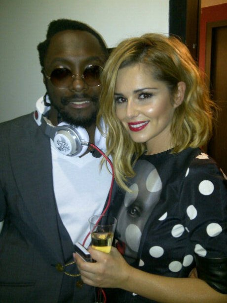 Will.I.am and Cheryl Cole in a picture on Twitter