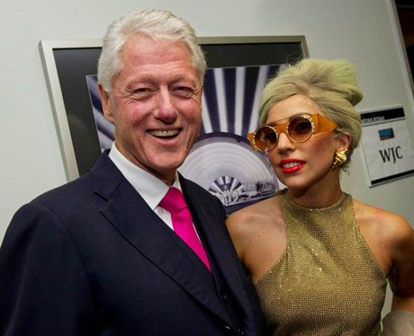 Bill Clinton with Lady Gaga