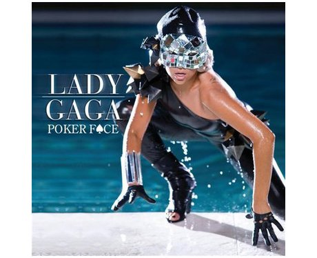 Lady Gaga's Poker Face single cover.
