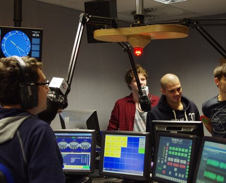The Wanted boys popped in to see The Rob Ellis Sho