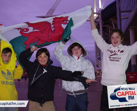 Wales rugby fans