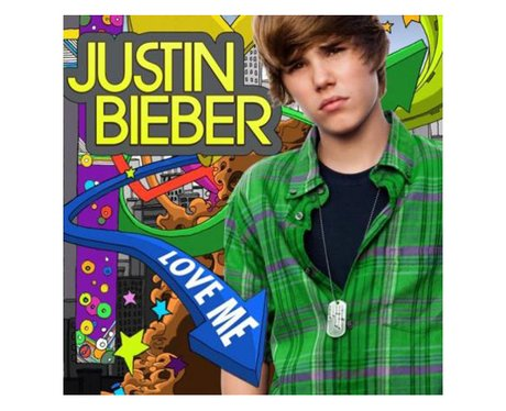 The single cover for Justin Bieber's 'Love Me'.