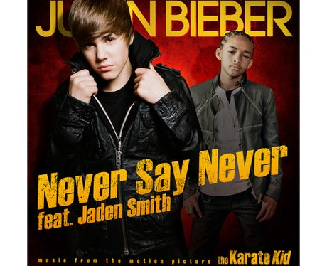 Justin Bieber  on the cover of the Never Say Never DVD
