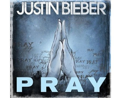 The single cover for Justin Bieber's 'Pray'.