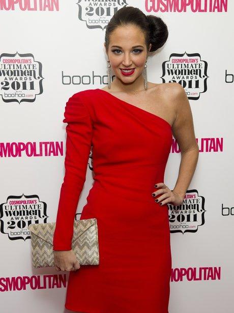 tulisa in red dress