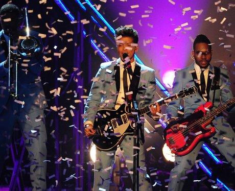 Bruno Mars performing at the VMAs in 2011