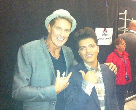 David Hasselhoff and Bruno Mars