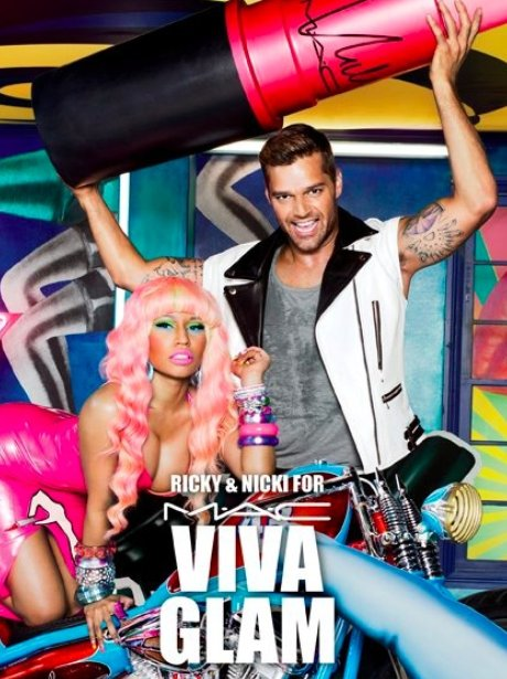 Nicki Minaj and Ricky Martin in MAC advertisement