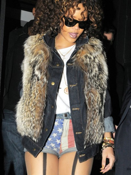 Rihanna Out In London