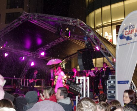 The Rock Bury's Christmas Light Switch On