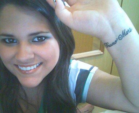 Bruno Mars Fan Tattoos