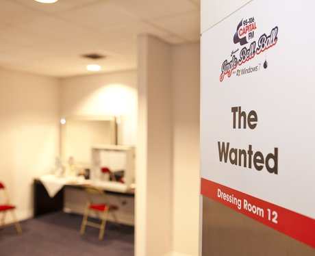 The Wanted's dressing room at the 2011 Jingle Bell Ball