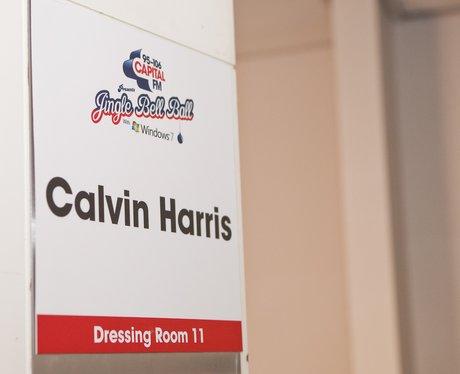 Calvin Harris' dressing room at the O2 Arena