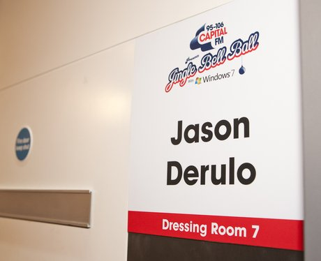 Jason Derulo's dressing room at the O2 Arena