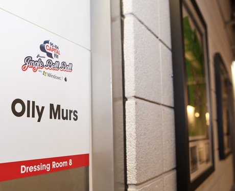 Olly Murs' dressing room at the O2 Arena in London for the Jingle Bell Ball