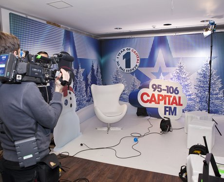 The artist interview filming area at the Jingle Bell Ball