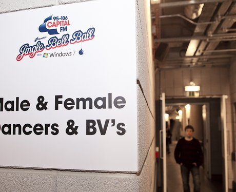 Backing dancers' area at the Jingle Bell Ball