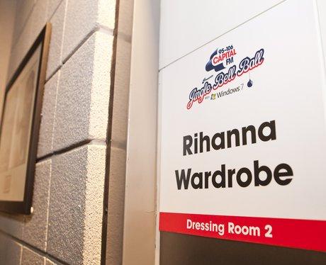 Rihanna's dressing room at London's O2 Arena
