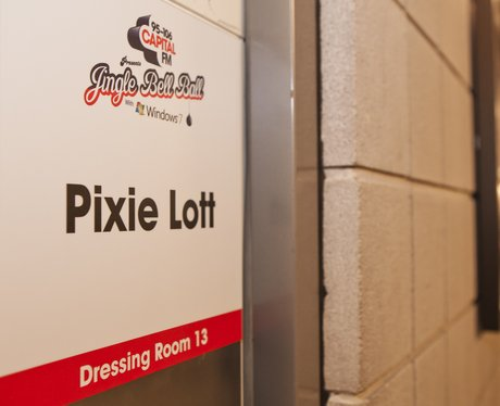 Pixie Lott's dressing room at the Jingle Bell Ball