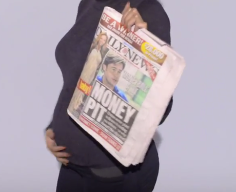 Beyonce's baby bump in 'Countdown' video