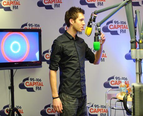 Calvin Harris backstage at the 2011 Jingle Bell Ball