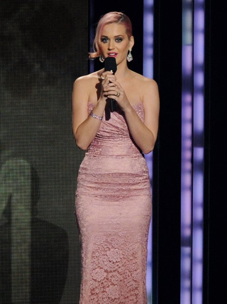 Katy Perry appears at the Grammy nominations Concert