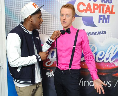 Labrinth and James Barr Backstage at the 2011 Jingle Bell Ball