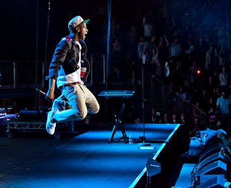 Labrinth live on stage performing at the 2011 Jingle Bell Ball at the O2 Arena