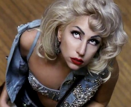 Lady Gaga looking like Madonna in a scene from the music video for 'Marry The Night'
